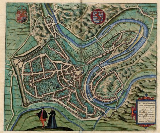Országos Széchényi Könyvtár: Luxembourg (Lutzenburgum) a XVI–XVII. század fordulóján