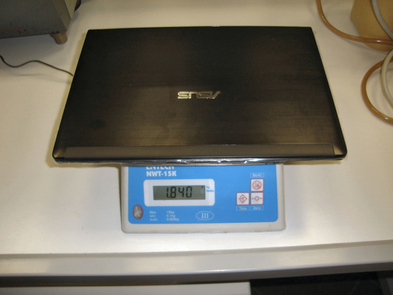 ASUS UL30Jt weight with battery