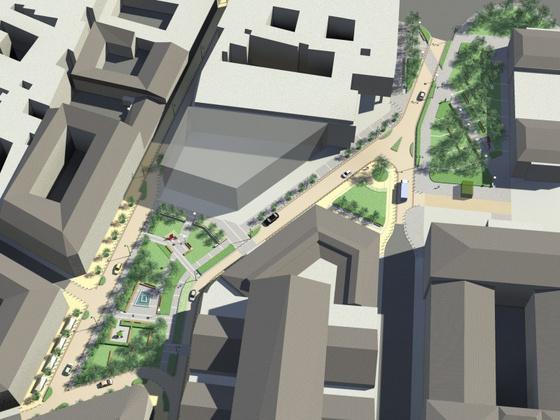 A Nagycsarnok mögött - forrás: építészfórum.hu