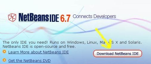infoerettsegi: java netbeans 10 a netbeans foldalarol kivalasztjuk a letoltest