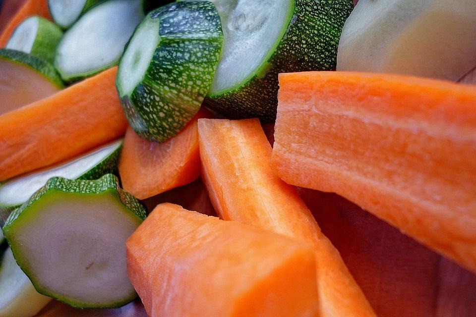 Zöldségek előkészületben